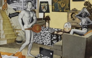 """Il collage di Richard Hamilton """"Just what is it that makes today's homes so different, so appealing?"""", esposto nella celebre mostra This is Tomorrow del 1956."""
