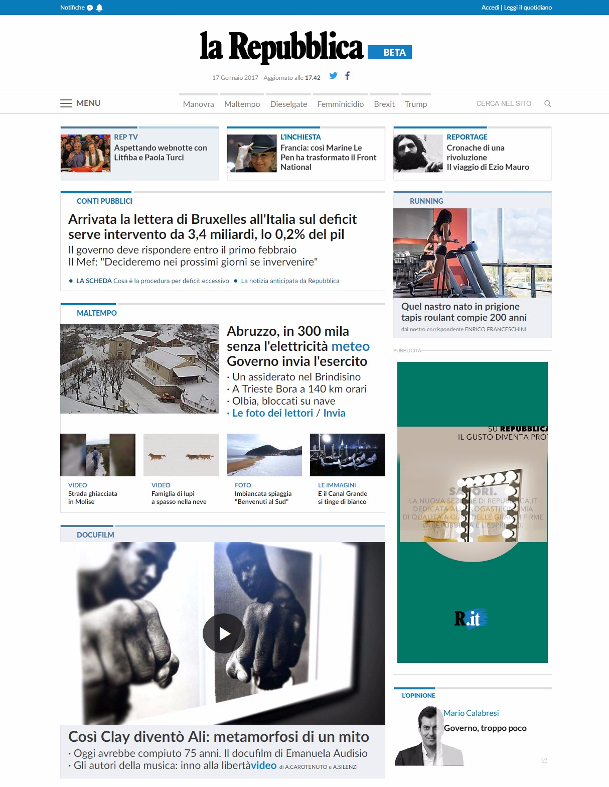 Cambia homepage ecco l anteprima smart for Repubblica homepage it