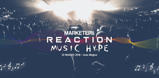 Copertina dell'evento sul marketing musicale MARKETERs Reaction: Music Hype