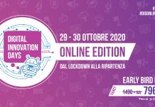 Digital Innovation Days Italy 2020 online edition: dal lockdown alla ripartenza.