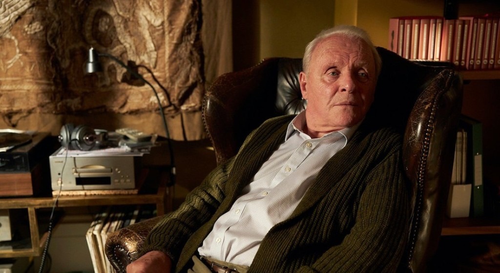Anthony Hopkins, in una scena del film The Father, per il quale ha vinto l'Oscar come Miglior Attore protagonista.